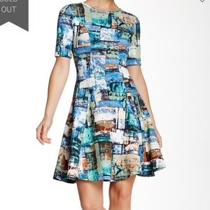 Karen Kane Scuba Knit Fit & Flare Dress NWT